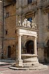 An old ornate marble well in Montepulciano, Tuscany, Italy, Europe Stock Photo - Premium Rights-Managed, Artist: Robert Harding Images, Code: 841-06030310