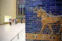 exhibition - Detail of Ishtar Gate, Pergamon Museum, Berlin, Germany, Europe Stock Photo - Premium Rights-Managednull, Code: 841-06030427