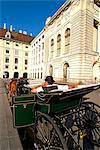Horse-drawn carriage at the Hofburg, UNESCO World Heritage Site, Vienna, Austria, Europe Stock Photo - Premium Rights-Managed, Artist: Robert Harding Images, Code: 841-06030493
