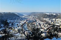 small town snow - View of Sulz and Neckartal (Neckar Valley), Baden-Wurttemberg, Germany, Europe Stock Photo - Premium Rights-Managednull, Code: 841-06030927