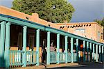 Palace Avenue, Santa Fe, New Mexico, United States of America, North America Stock Photo - Premium Rights-Managed, Artist: Robert Harding Images, Code: 841-06031023