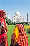 Women in colourful saris at the Taj Mahal, UNESCO World Heritage Site, Agra, Uttar Pradesh state, India, Asia Stock Photo - Premium Rights-Managed, Artist: Robert Harding Images, Code: 841-06031260
