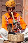Cobra snake charmer outside the City Palace, Jaipur, Rajasthan, India, Asia Stock Photo - Premium Rights-Managed, Artist: Robert Harding Images, Code: 841-06031266