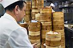 Dim sum preparation in a restaurant kitchen in Hong Kong, China, Asia Stock Photo - Premium Rights-Managed, Artist: Robert Harding Images, Code: 841-06031302