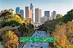Pasadena Freeway (CA Highway 110) leading to Downtown Los Angeles, California, United States of America, North America Stock Photo - Premium Rights-Managed, Artist: Robert Harding Images, Code: 841-06031356
