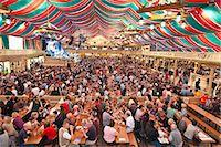 Beer hall at the Stuttgart Beer Festival, Cannstatter Wasen, Stuttgart, Baden-Wurttemberg, Germany, Europe Stock Photo - Premium Rights-Managednull, Code: 841-06031422