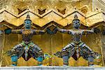 Statues of demons on the Golden Chedi, Wat Phra Kaeo Complex (Grand Palace Complex), Bangkok, Thailand, Southeast Asia, Asia Stock Photo - Premium Rights-Managed, Artist: Robert Harding Images, Code: 841-06031610