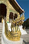 Naga heads, Wat Sen, Luang Prabang, Laos, Indochina, Southeast Asia, Asia Stock Photo - Premium Rights-Managed, Artist: Robert Harding Images, Code: 841-06031625