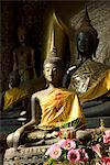 Sitting Buddhas in the Main Temple, Wat Xieng Thong, UNESCO World Heritage Site, Luang Prabang, Laos, Indochina, Southeast Asia, Asia Stock Photo - Premium Rights-Managed, Artist: Robert Harding Images, Code: 841-06031641