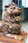 Bronze lion sculpture outside HSBC Headquarters, Central, Hong Kong Island, Hong Kong, China, Asia Stock Photo - Premium Rights-Managed, Artist: Robert Harding Images, Code: 841-06031960