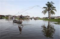 Fishing in Ganvie lake village on Nokoue Lake, Benin, West Africa, Africa Stock Photo - Premium Rights-Managednull, Code: 841-06032053
