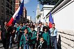 Muslim scouts carrying a torch outside the Paris Great Mosque, Paris, France, Europe Stock Photo - Premium Rights-Managed, Artist: Robert Harding Images, Code: 841-06032139