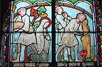 Stained glass depicting Sainte Genevieve's life, cloister of Notre-Dame de Paris cathedral, Paris, France, Europe Stock Photo - Premium Rights-Managed, Artist: Robert Harding Images, Code: 841-06032155