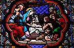 Nativity stained glass in Sainte Clotilde church, Paris, France, Europe Stock Photo - Premium Rights-Managed, Artist: Robert Harding Images, Code: 841-06032286