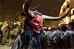 Krampus is a mythical creature recognized in Alpine countries, Campo Tures, South Tyrol, Bolzano, Italy, Europe Stock Photo - Premium Rights-Managed, Artist: Robert Harding Images, Code: 841-06032567