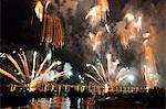 The amazing fireworks display during the night of Redentore celebration in the basin of St. Mark, Venice, Veneto, Italy, Europe Stock Photo - Premium Rights-Managed, Artist: Robert Harding Images, Code: 841-06032576