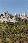 View of the Cathar castle of Peyrepertuse in Languedoc-Roussillon, France, Europe Stock Photo - Premium Rights-Managed, Artist: Robert Harding Images, Code: 841-06032793