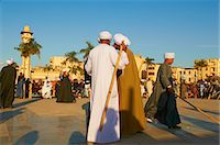 Tahtib demonstration, traditional form of Egyptian folk dance involving a wooden stick, also known as stick dance or cane dance, Mosque of Abu el-Haggag, Luxor, Egypt, North Africa, Africa Stock Photo - Premium Rights-Managednull, Code: 841-06032865