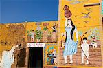 Wall paintings on house in the village of Gourna El Gedida, West Bank of the River Nile, Thebes, Egypt, North Africa, Africa Stock Photo - Premium Rights-Managed, Artist: Robert Harding Images, Code: 841-06032919