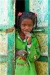 Girl in Nubian painted village near Aswan, Egypt, North Africa, Africa Stock Photo - Premium Rights-Managed, Artist: Robert Harding Images, Code: 841-06032931