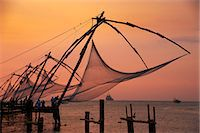 Chinese fishing nets, Cochin, Kerala, India, Asia Stock Photo - Premium Rights-Managednull, Code: 841-06032951