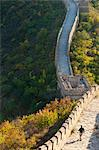 Hiker on Wild Wall, Great Wall of China, UNESCO World Heritage Site, Huanghuacheng (Yellow Flower Wall) in autumn, Jiuduhe, Huairou, China, Asia Stock Photo - Premium Rights-Managed, Artist: Robert Harding Images, Code: 841-06033052