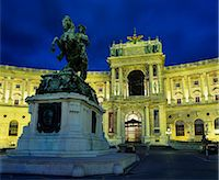 Hofburg at night, UNESCO World Heritage Site, Vienna, Austria, Europe Stock Photo - Premium Rights-Managednull, Code: 841-06033247