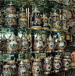 Souvenir shop window display of traditional Austrian beer tankards, Vienna, Austria, Europe Stock Photo - Premium Rights-Managed, Artist: Robert Harding Images, Code: 841-06033255