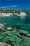 Clear waters in front of the Old Town, Budva, The Budva Riviera, Montenegro, Europe Stock Photo - Premium Rights-Managed, Artist: Robert Harding Images, Code: 841-06033303