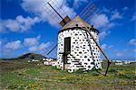 Windmill set in volcanic landscape, Villaverde, Fuerteventura, Canary Islands, Spain, Europe Stock Photo - Premium Rights-Managed, Artist: Robert Harding Images, Code: 841-06033341