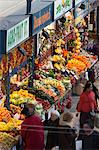 Fruit and vegetable stalls, Central Market (Kozponti Vasarcsarnok), Budapest, Hungary, Europe Stock Photo - Premium Rights-Managed, Artist: Robert Harding Images, Code: 841-06033404