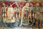 Detail of the Dance of Death fresco dating from 1475, Chapel of Our Lady of the Rocks, Beram, Istria, Croatia, Europe Stock Photo - Premium Rights-Managed, Artist: Robert Harding Images, Code: 841-06033569