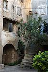 Courtyard in back alleyway of old town, Cres Town, Cres Island, Kvarner Gulf, Croatia, Europe Stock Photo - Premium Rights-Managed, Artist: Robert Harding Images, Code: 841-06033579