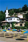 The Quiet Nest villa with minaret, The Palace of Queen Marie, Balchik, Black Sea coast, Bulgaria, Europe Stock Photo - Premium Rights-Managed, Artist: Robert Harding Images, Code: 841-06033705