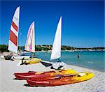 Watersports on beach, Plage de Santa Giulia, southeast coast, Corsica, France, Mediterranean, Europe Stock Photo - Premium Rights-Managed, Artist: Robert Harding Images, Code: 841-06033733