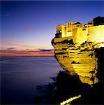 Haute Ville on cliff edge at dusk, Bonifacio, South Corsica, Corsica, France, Mediterranean, Europe Stock Photo - Premium Rights-Managed, Artist: Robert Harding Images, Code: 841-06033755