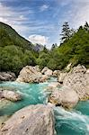 Fast flowing water of the Soca River, Gorenjska, Slovenia, Europe Stock Photo - Premium Rights-Managed, Artist: Robert Harding Images, Code: 841-06033835