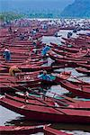Boats on river to Perfume Pagoda, Vietnam, Indochina, Southeast Asia, Asia