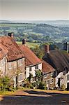 The famous cobbled street of Gold Hill in Shaftesbury, Dorset, England, United Kingdom, Europe Stock Photo - Premium Rights-Managed, Artist: Robert Harding Images, Code: 841-06034400
