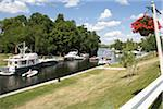 Boats at Lock 32, Bobcaygeon, Ontario, Canada Stock Photo - Premium Rights-Managed, Artist: Raoul Minsart, Code: 700-06037911