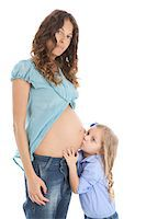 pregnant women kissing - Pregnant Mother and Daughter Stock Photo - Premium Royalty-Freenull, Code: 600-06038111