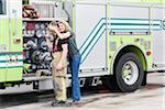Firefighter and Girlfriend, Florida, USA Stock Photo - Premium Royalty-Free, Artist: Kevin Dodge, Code: 600-06038155