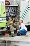 Firefighter and Girlfriend, Florida, USA Stock Photo - Premium Royalty-Free, Artist: Kevin Dodge, Code: 600-06038168