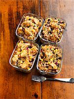 Individual Servings of Chicken Casserole in Reuseable Glass Containers Stock Photo - Premium Royalty-Freenull, Code: 600-06038247