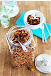 Jar of Granola with Dried Fruit Stock Photo - Premium Royalty-Free, Artist: Edward Pond, Code: 600-06038251