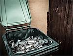 Aluminum cans in recycling bin Stock Photo - Premium Royalty-Free, Artist: Photocuisine, Code: 649-06040090