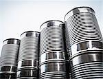 Close up of stacked aluminum cans Stock Photo - Premium Royalty-Free, Artist: Photocuisine, Code: 649-06040091