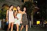 Women walking on city street at night Stock Photo - Premium Royalty-Free, Artist: R. Ian Lloyd, Code: 649-06040163