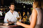 Woman talking to bartender at bar Stock Photo - Premium Royalty-Free, Artist: Martin Förster, Code: 649-06040181