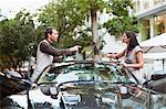 Couple arguing over sports car Stock Photo - Premium Royalty-Free, Artist: Jean-Christophe Riou, Code: 649-06040246